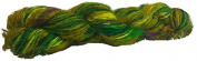 Knitsilk Crush me green Multicolor sari silk yarn -
