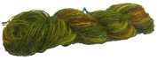 Knitsilk Greenish Rogue Multicolor Sari Silk Yarn-
