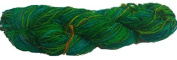 Knitsilk Devious Greenish Multicolor sari silk yarn -