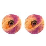 BambooMN Brand - Galaxy Fantasy Yarn - 2 Skeins - Mellow Marigold - Colour 111
