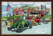 Design Works Counted Cross Stitch Kit- Route 66 Farmstand