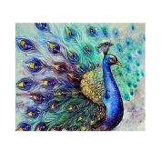 Diamondo Peacock Diamond Painting Flaunting Tail Animal Cross Stitch Kits 5D DIY