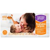 Berkley Jensen Family & Toddler Moist Flushable Wipes, 432 ct.