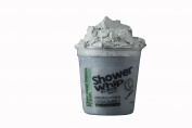 Body Scrub - Exfoliating Shower Whip & Soap Charcoal Detox Fresh Loofah in a Jar