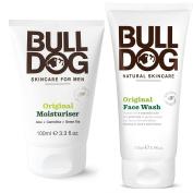 Bulldog Skincare Original Moisturiser and Face Wash For Men With Green Tea, Green Algae, Konjac Mannan, Vitamin E, Bergamot Peel and Lemon Peel, 3.3 and 170ml