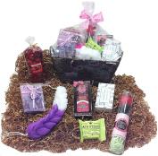Aromatics Spa Bath Gift Basket - Potpourri, Sachets, Shower Gel, Body Butter, Soap Petals, Soap, Bath Fizzer & Sponge