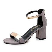 . Women Sandals,Canserin Women's Summer Sandals Open Toe Thick Heel Sandals Gladiator Shoes (7.5 B