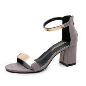 . Women Sandals,Canserin Women's Summer Sandals Open Toe Thick Heel Sandals Gladiator Shoes (5.5 B