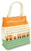 Shinzi Katoh Zipper tote bag - train