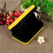 Go2buy Makeup Yellow Cosmetic Bag Organiser Carrying Case Travel Handbag Suitcase