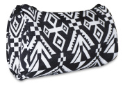Ever Moda Black Mayan Cosmetic Makeup Bag