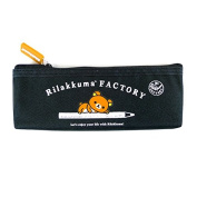 San-x Rilakkuma Factory Canvas Pencil Case School Supply stationery Pouch