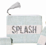 Two's Company Seaside Blue Sequin Makeup Bag