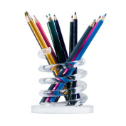 Pencil Holder CICI & SISI Pen Pencil Container Brush Holder Desk Organiser Decoration Acrylic Transparent
