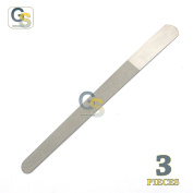 G.S SAPPHIRE STAINLESS STEEL DIAMOND SAPPHIRE NAIL FILE TO CLEAN YOUR NAIL AFTER CUT OR TRIM 3 PCS SET BEST QUALITY