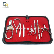 G.S MANICURE & PEDICURE-TOENAIL AND NAIL CARE COMPLETE SET-8 PCS G.S PROFESSIONAL INGROWN TOENAIL SET FOR THICK NAILS HEAVY DUTY MADE OF HIGH GRADE STAINLESS STEEL BEST QUALITY