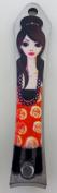 Fancy Lady Fingernail Clippers - Brunette in Roses Dress