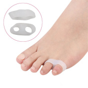 Small Toe Separator Stretchers Bunion Two holes Silicone Foot Toe Straightener Used for Sports Activities, Yoga Practise & Running for Men and Women Pain Relief