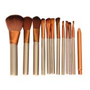 V-noah 12 Pcs Makeup Brushes Cosmetic Makeup Brush Set Premium Synthetic Bristles Kabuki Foundation Blending Blush Concealer Eye Face Liquid Powder Cream Cosmetics Brushes Kit