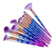 Miskos 12pcs Professional Makeup Brushes Set Beauty Cosmetic Eyeshadow Lip Powder Face Pinceis Tools Kabuki Brush Kits