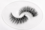 Flipped Lashes Freesia 3D Mink Fur Fake Eyelashes Hand-made Thick Strip Lashes Natural False Eyelashes Beauty Makeup1Pair Package