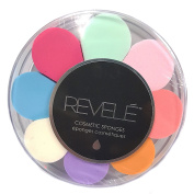 Revele Cosmetic Sponges Assorted Colours