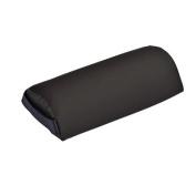 Mini Half-Round Bolster, 33cm L x 15cm Dia, black