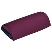 Mini Half-Round Bolster, 33cm L x 15cm Dia, burgundy