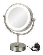Kimball & Young 745-35-45 Neomodern LED Lighted Freestanding Mirror 23cm x 5.6cm Chrome