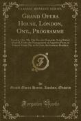 Grand Opera House, London, Ont., Programme