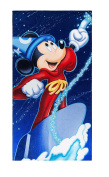Disney Parks Fantasia Mickey Mouse Sorcerer's Apprentice Large Bath Beach Towel NEW