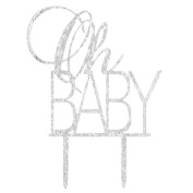"INNORU "" Oh Baby "" Cake Topper Boy and Girl Baby Shower Party Supplies Decor - Gold …"