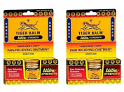 Tiger Balm Ultra Strength Pain Relieving Ointment (Pack of 2) with Camphor, Menthol, Cajuput Oil, Eucalyptus Oil, Clove Oil and Cassia Oil, 18g
