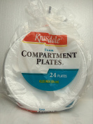 Foam Compartment Plates 48 plates (26cm ) 2 packs of 24 plates each