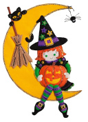 Bucilla Felt Applique Wall Hanging Kit (38cm x 50cm ) 86829 Witching Moon