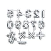WinnerEco Number Symbol Cutting Dies Stencil Metal Mould for DIY Scrapbook Album Paper Card