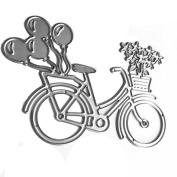 Souarts Bicycle Metal Cutting Dies Embossing Stencils for Album Card Scrapbooking Craft 1pc