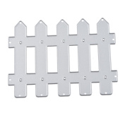 Souarts Fence Metal Cutting Dies Embossing Stencils for Album Card Scrapbooking Craft 1pc
