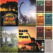 Reminisce Dinosaur Lane Poster Sticker Sheet