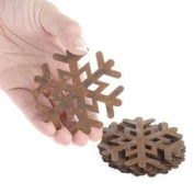 Factory Direct Craft Group of 12 Primitive Rusty Tin Snowflake Cutouts for Displaying, Crafting and Creating