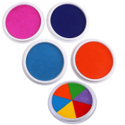 Miraclekoo Jumbo Washable Ink Pads for Rubber Stamps Kids,Set of 5
