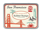 Cavallini Papers & Co., Inc. Vintage San Francisco Stamp Set Rubber
