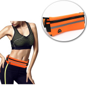 Running Belt Waist Pack, Water Resistant Reflective Adjustable Waistband,For Cycling, Hiking,Jogging,Running,Walking with dog