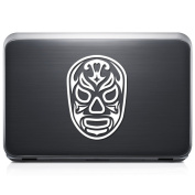 Santo Fuego Luchador Lucha Libre Mexican Wrestling REMOVABLE Vinyl Decal Sticker For Laptop Tablet Helmet Windows Wall Decor Car Truck Motorcycle - Size (07 Inch / 18 Cm Tall) - Colour