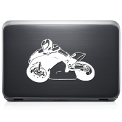 Street Bike Racing Motorcycle Motorbike REMOVABLE Vinyl Decal Sticker For Laptop Tablet Helmet Windows Wall Decor Car Truck Motorcycle - Size (05 Inch / 13 Cm Wide) - Colour
