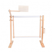 Needlework Stand Wood Embroidery Hoop Frame Cross Stitch Lap Table Craft Sewing Tool