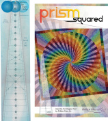 Bundle of Phillips Fibre Art 10 Degree Wedge Ruler, and Prism Squared Quilt Pattern, Finished Size 150cm x 150cm