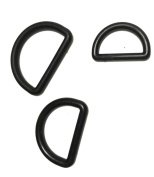 Gourd Black Plastic D-Rings 30 Pcs Included 1.9cm , 2.5cm , 2.5cm - 0.5cm , Each 10 Pcs