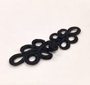 Four Pairs of Traditional Chinese Frogs fasteners closure buttons in Black
