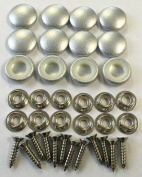 Set Of 12 Dura Snap Upholstery Buttons #30 Metallic Silver Vinyl